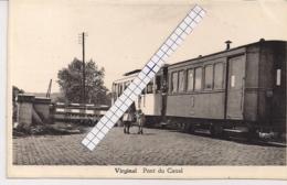 "VIRGINAL-ITTRE "" PONT DU CANAL AVEC TRAM -BRUG AAN HET KANAAL MET TRAM"" FLANDROY-DETOURNAY - Ittre"