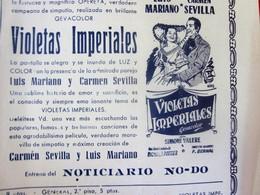 LA RUBIA-VIOLETAS IMPERIALES-1954 MAJESTIC CINÉMA FIESTA MAYOR-COLOSAL EXTRAORDINARIO Y GRANDIOSE PROGRAMA TODO EN COLOR - Programas