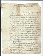 """LETTRE Corr. Seule, Général Durosnel 1806 """" Je Pars Prendre Le Commandement . Cavalerie .. Augereau Grande Armée Empire - Autographes"""