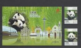 Macao Macau 2010 Yvert 1523/1524 ** + Bloc 207 ** Panda Pandas Geants - Superbes - 1999-... Chinese Admnistrative Region