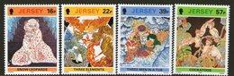 JERSEY, 1982 BATIK DESIGNS 4 MNH - Jersey