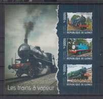 I263. Guinee - MNH - 2014 - Transport - Trains - Locomotives - Treni