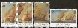 ALDERNEY, 1992 BATTLE OF LA HOGUE 4 MNH - Alderney