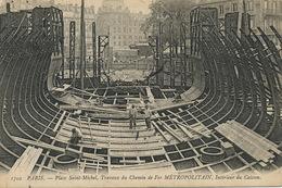 Construction Metro Metropolitain Place St Michel Paris Interieur Caisson Envoi à Messigny 21 - Métro