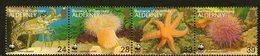 ALDERNEY, 1995 WWF MARINE LIFE STRIP 4 MNH - Alderney