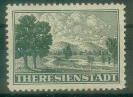 DR Bes. 2. WK Böhmen & Mähren - Michel Zulassungsmarke Theresienstadt Ungebr.* - Ongebruikt