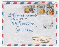 Somalia 2 Air Mail Letter Covers Travelled Registered 1972/74 Mogadishu Mogadiscio To Yugoslavia B190615 - Somalia (1960-...)