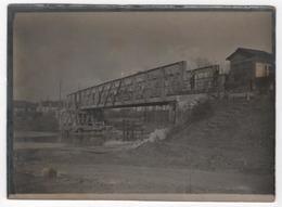 Photo Originale Militaria WWI Pont De Rethonde Pont Du Francport Près Compiègne - Guerre, Militaire