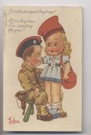 Illustrateur LECLERC - Soldat Américain - Française - Culotte Blanche Sous Mini Jupe - White Panties Under Mini Skirt - Leclerc