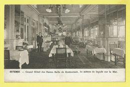 * Oostende - Ostende (Kust - Littoral) * (I.A.) Grand Hotel Des Bains, Salle De Restaurant, Intérieur, TOP, Unique Digue - Oostende