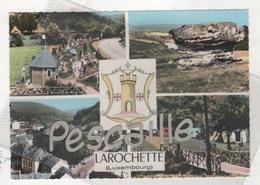 G. D. DE LUXEMBOURG - CP COLORISEE 4 VUES + BLASON LAROCHETTE - SANS NOM D'EDITEUR N° C 1 - Larochette
