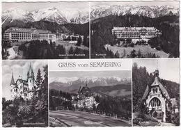 Semmering - Grand Hotel, Kurhaus, Silbererschlössel, Sudbahnhotel, Kircherl - (1964) - Semmering