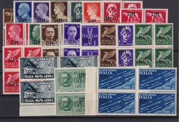 ITALIA REGNO ITALY KINGDOM 1942 POSTA MILITARE SERIE 1/20 In Quartina MNH** LUSSO - 1900-44 Vittorio Emanuele III