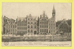 * Gent - Gand (Oost Vlaanderen) * (E. Desaix) Quai Aux Herbes, Maison Des Brasseurs, Canal, Char, Old - Gent