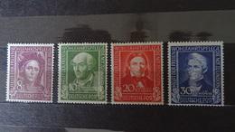 &LEZ& GERMANY BDR MICHEL 117/120, YVERT 3/6 MH*. - [7] Federal Republic