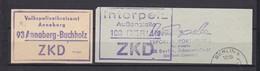 DDR - Einschreibemarken - Nummernzettel Selbstbedienung - Dienstpost