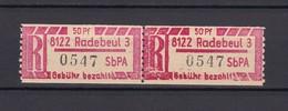 DDR - Einschreibemarken - 1967 - Michel Nr. 1 A X Z - 10 Euro - Dienstpost