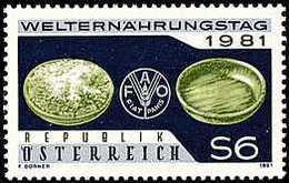 AUSTRIA 1981 - JORNADA MUNDIAL DE LA ALIMENTACION - FAO - YVERT Nº 1515** - Against Starve