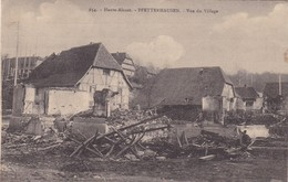 68. PFETTERHAUSEN. GUERRE 14-18 . VUE DU VILLAGE BOMBARDE.+ TEXTE DU 25 FEVRIER  1917 - War 1914-18