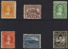 1860-63  Mint Range On A Stockcard. One Stamp Of Each Value, All With Gum And Some With The Odd Small Fault (6 Stamps) F - New Brunswick