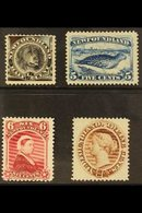 1894  New Colours Set Complete, SG 59/61, Very Fine And Fresh Mint. (4 Stamps) For More Images, Please Visit Http://www. - Newfoundland And Labrador