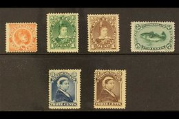 1896  Re-issue Set Complete, SG 62/65a, Very Fine Mint. Lovely Bright Colours. (6 Stamps) For More Images, Please Visit  - Newfoundland And Labrador