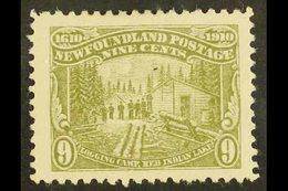 "1910  9c Olive-green ""Logging Camp"", Perf 12, SG 102, Very Fine Mint. For More Images, Please Visit Http://www.sandafayr - Newfoundland And Labrador"