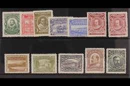 1910  Litho Definitives Set Complete, 2c P12x14, Otherwise All P12, Includes Both 6c Types, SG 95, 97/105, 100a, 107, M - Newfoundland And Labrador