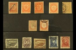 """EARLY FORGERIES  A """"used"""" Or """"unused"""" Group Of 1857-73 Forged Issues, Includes An 1857-64 Imperf Range With 2d X4 With S - Newfoundland And Labrador"""