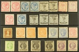 1862-69 MINT & UNUSED SELECTION  Presented On A Stock Card. Unchecked In Detail , But Includes 1862-69 Toned Paper Range - Unclassified