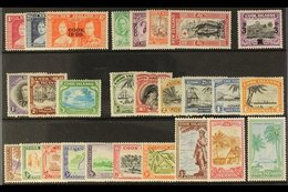 1937-52 MINT KGVI ASSEMBLY  Presented On A Stock Card & Includes 1938 Set & 1949 Pictorial Set. Useful Range (27 Stamps) - Cook Islands