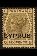 1880  6d Grey, SG 5, Mint, Centred Left But Very Fresh. For More Images, Please Visit Http://www.sandafayre.com/itemdeta - Cyprus