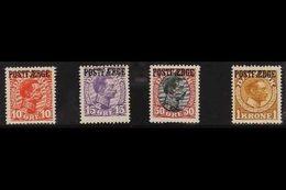 "PARCEL POST  1919-20 10 Ore, 15 Ore, 50 Ore, And 1kr Overprinted ""POSTFAERGE"" Complete Set, Michel 1/4, Fine Mint. (4 St - Denmark"