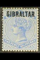 "1886  2½d Ultramarine ""Gibraltar"" Opt'd, SG 4, Good Mint With Light Toning To Upper Perfs For More Images, Please Visit  - Gibraltar"
