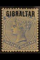 "1886  2½d Ultramarine Of Bermuda Overprinted ""GIBRALTAR"", SG 4, Fine Mint. For More Images, Please Visit Http://www.sand - Gibraltar"