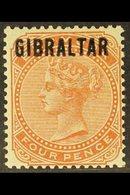 1886  4d Orange-brown Overprinted, SG 5, Fine Mint. For More Images, Please Visit Http://www.sandafayre.com/itemdetails. - Gibraltar