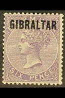 1886  6d Deep Lilac Overprint, SG 6, Fine Used, Fresh, Expertized Thier. For More Images, Please Visit Http://www.sandaf - Gibraltar