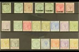 """1886-1898 MINT QV SELECTION  An ALL DIFFERENT Selection Presented On A Stock Card That Includes 1886 """"Gibraltar"""" Opt'd H - Gibraltar"""
