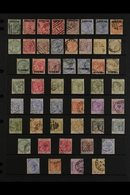 """1886-1898 QUEEN VICTORIA USED COLLECTION  Presented On A Stock Pagethat Includes 1886 Bermuda Stamps Opt'd """"GIBRALTAR""""  - Gibraltar"""