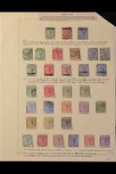 1886-1938 OLD COLLECTION  On Leaves, Mint & Used, Includes 1886 ½d Opt Mint, 1886-87 To 2d Used, 1889-96 To 2p Mint Incl - Gibraltar
