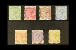1898  Complete Reissue Set, SG 39/45, Mainly Fine Mint. (7 Stamps) For More Images, Please Visit Http://www.sandafayre.c - Gibraltar