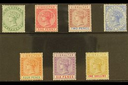 1898  Reissue In Sterling Currency Complete Set, SG 39/45, Very Fine Mint. (7 Stamps) For More Images, Please Visit Http - Gibraltar