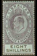 1903  8s Dull Purple And Black On Blue, SG 54, Very Fine Mint. For More Images, Please Visit Http://www.sandafayre.com/i - Gibraltar