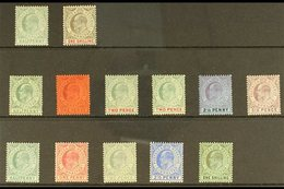 1903-11 MINT KEVII SELECTION  Presented On A Stock Card That Includes 1903 CA Wmk 1s, 1904-08 MCA Wmk Range To 6d Inc Pa - Gibraltar