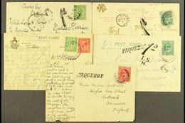 """1903-1934  A Group Of Picture Postcards Bearing Great Britain Stamps, Two Posted To Gibraltar With """"Gibraltar"""" Cds's And - Gibraltar"""