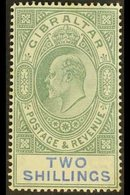 1904-08  2s Green And Blue, SG 62, Mint, A Couple Of Toned Perfs On The Gum Side, Otherwise Fine. For More Images, Pleas - Gibraltar