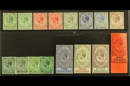 1912-24  MCA Wmk Set With Most Listed Shade Variants, SG 76/85, Fine Mint (16 Stamps) For More Images, Please Visit Http - Gibraltar