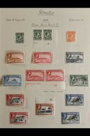 1938-1950 SUPERB MINT COLLECTION  On Leaves, Some Stamps Are Never Hinged. Includes 1938-51 Pictorials Set With Most Per - Gibraltar