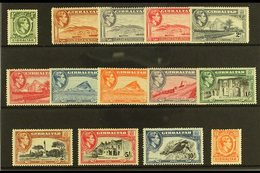 1938-51  Pictorial Definitive Set, SG 121/31, Used, Some Minor Imperfections (14 Stamp) For More Images, Please Visit Ht - Gibraltar
