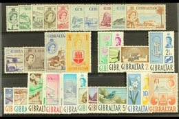 1953-62 DEFINITIVE SETS.  A Stock Card Bearing The First Two Definitive Complete Sets, 1953-59 Set (SG 145/58) & 1960-62 - Gibraltar